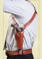 НАГАН (длинный ствол) Оперативная подплечная универсальная кобура (кожа)
