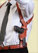 ФОРТ 14 Оперативная подплечная кобура с подсумком для запасного магазина (кожа)