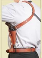 НАГАН (короткий) Оперативная подплечная универсальная кобура (кожа)